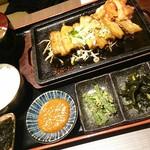 チェゴヤ - 鉄板ポッサムセット前菜、サラダ、韓国海苔、スープ付き
