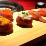 個室焼肉 晩翠 - 肉寿司盛り合わせ
