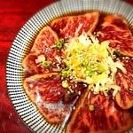 個室焼肉 晩翠 - レアステーキ