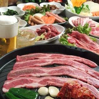 大人数でサムギョプサル食べ放題宴会!