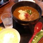 Arashiyamatei - カレーうどん(ごはん付)  1280円