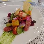 ビストロ ダイア - 炙り本マグロ中トロのニース風サラダ