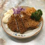 はやし食堂 - トンカツハーフ  ¥260