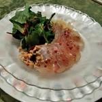 中国料理 孔雀楼 - 料理写真:[料理] 潮鯛のおさしみ チャイナスタイル プレート全景♪w