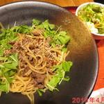 京ダイニング八条 - 黒毛和牛と京水菜のペペロンチーノ \1200
