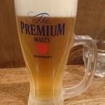 らーめんシゲトミ - 2018年3月 生ビール 500円