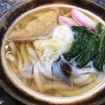 伊勢由 - 料理写真:鍋焼うどん、鳥は抜いて貰いました^ ^