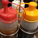 CoCo壱番屋 - サラダドレッシングはオリジナル、ノンオイル、ごまの三種