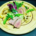 合い鴨ロース肉と季節野菜のグリル ~濃厚バルサミコソース~