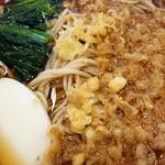 あだちや - たぬき蕎麦530円+大盛100円