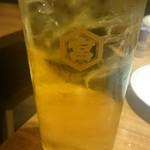 西新宿 ふじ屋 - 緑茶ハイ
