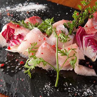 豊洲市場直送の厳選鮮魚のカルパッチョ!