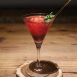 栃木の苺のカクテル