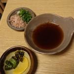 丁字屋 - 香の物  湯豆腐薬味