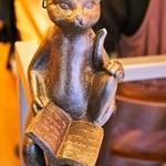 ジェラート専門店 SUGITORA - 階段の手すりに居た猫(w