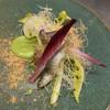 ミッシェル ナカジマ - 料理写真:稚鮎のフリット タンポポ わらび餅