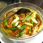 香港厨房 - 激辛牛肉の水煮380円
