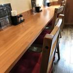洋食の藤 - 今回は、このカウンター席でいただきます(2018.4.11)