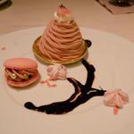 83968860 - 苺マカロンと桜モンブランとメレンゲの焼き菓子