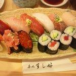 8397559 - ニギリ寿司のアップ