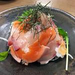 ひらまつ食堂 - 2色丼(淡路島サクラマス+カンパチ)