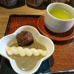 茶々いま - 料理写真:上撰 煎茶と ほうじ茶プリン