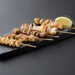 国産串焼き盛合せ(五種)