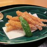 懐石料理 はし本 - 揚げ物:白魚