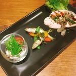 トラットリア グーフォ - 前菜3種盛り