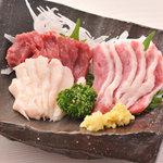 鹿児島酒処 ふるさと - 最高に美味しい鮮馬刺し(赤身・フタエゴ・タテガミ)破格の各580円