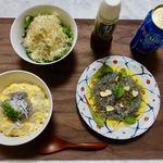 しらすの美吉丸 - 料理写真:生&釜揚げしらすの卵とじ丼 生しらすのカルパッチョ