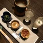 Tokkuri - お通し&スープ&日本酒