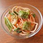 ケンタッキーフライドチキン - カリフラワーロマネスコと水菜、明太子のサラダスパ