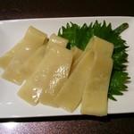 らぁ麺 山雄亭 - 麺刺身をアップ