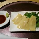 らぁ麺 山雄亭 - 麺刺身(¥400)