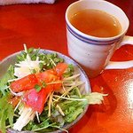 84384 - サラダとスープ