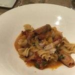 クラッティーニ - 赤海老とオレンジ、サルディーニャのパスタ