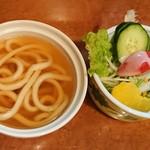 いっしん - 汁物(うどん)、サラダ