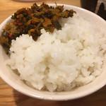 彩色ラーメンきんせい - セットのライス with からし高菜