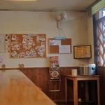 担担麺や 天秤 - ご飯はあそこにありますので、丼を持っていってやったりましょう。