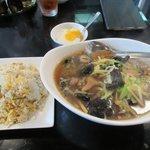 紫福庵 - 料理写真:麺&炒飯ランチ2018.04.03