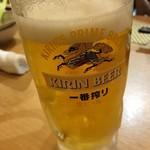 一鳥 - 生ビール