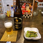 フードパラダイス エムエム - お通しとビール