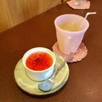ジャム cafe 可鈴 - サービスデザート&ミニプレートに付けた(+100円)アップルジュース