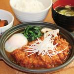 満天食堂 - 鶏の味噌かつ煮定食