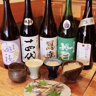 全国より厳選された地酒を八寸など本格日本料理とマッチング
