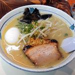 らぁ麺 波 - らぁ麺 波の塩らぁ麺+玉子