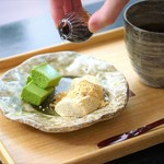 神宗 - わらびもちと抹茶ババロア(4月土曜日限定カフェメニュー)