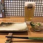 担ぎ屋 - ビール アサヒスーパードライ 520円。