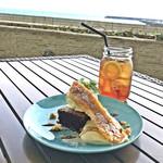 サザンビーチカフェ - バナナブリュレ&チョコレートブラウニー(税抜580円)/ ドリンクセット(税抜200円)アールグレイ